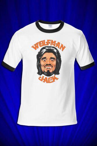 Wolfman Jack Show RINGER Tee FREE SHIP USA Rock n Roll DJ American Graffiti