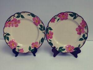 LOT-of-2-Made-in-USA-Franciscan-Desert-Rose-10-1-2-034-Dinner-Plates