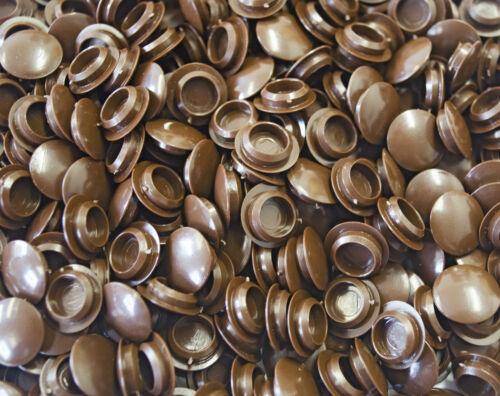 10 mm Hole Cover Cap Marron Perceuse d/'obturation bonde armoire placard meuble de cuisine