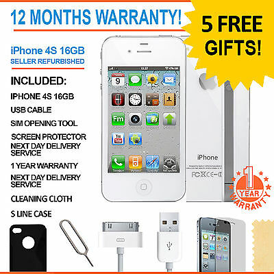 Apple iPhone 4S - 16 GB - White (Unlocked) Smartphone