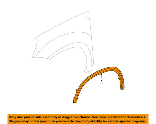 GMC GM OEM Acadia-Front Fender Flare Wheel Well Arch Molding Right 25798954