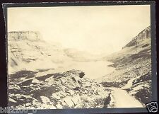 PHOTO ANCIENNE VERS 1885/1890.SUISSE. lac de Dauben . La Gemmi .