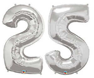 25th-ANNIVERSARY-PARTY-SUPPLIES-34-034-HIGH-METALLIC-SILVER-FOIL-25-BALLOONS