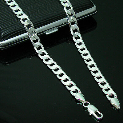 Wholesale 925 Sterling Silver Necklace Curb Chain 4mm Link Italy