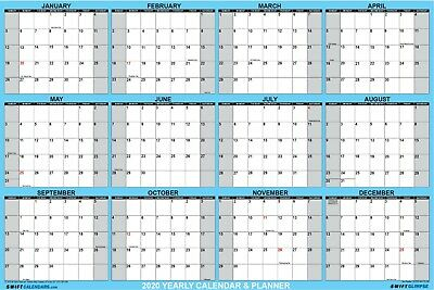 SwiftGlimpse 2019 Dry Erase Wall Calendar Planner Planning at a glance 24x36