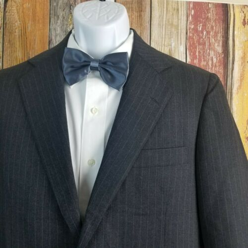 Southwick Men's Wool Charcoal Gray Pinstrip 2 Piec