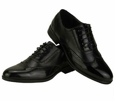 New Mens Sneakers Two Tone Gangster Patent Leather Brogues Wingtip Spats Shoes