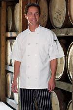 Uncommon Threads Women/'s short sleeve chef coat 0478 XS-2XL White