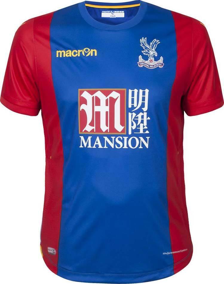 Macron Crystal Crystal Crystal Palace  Spieler Heim Trikot 2016 17 Home Player Jersey  – Gr. XL 5a2d59