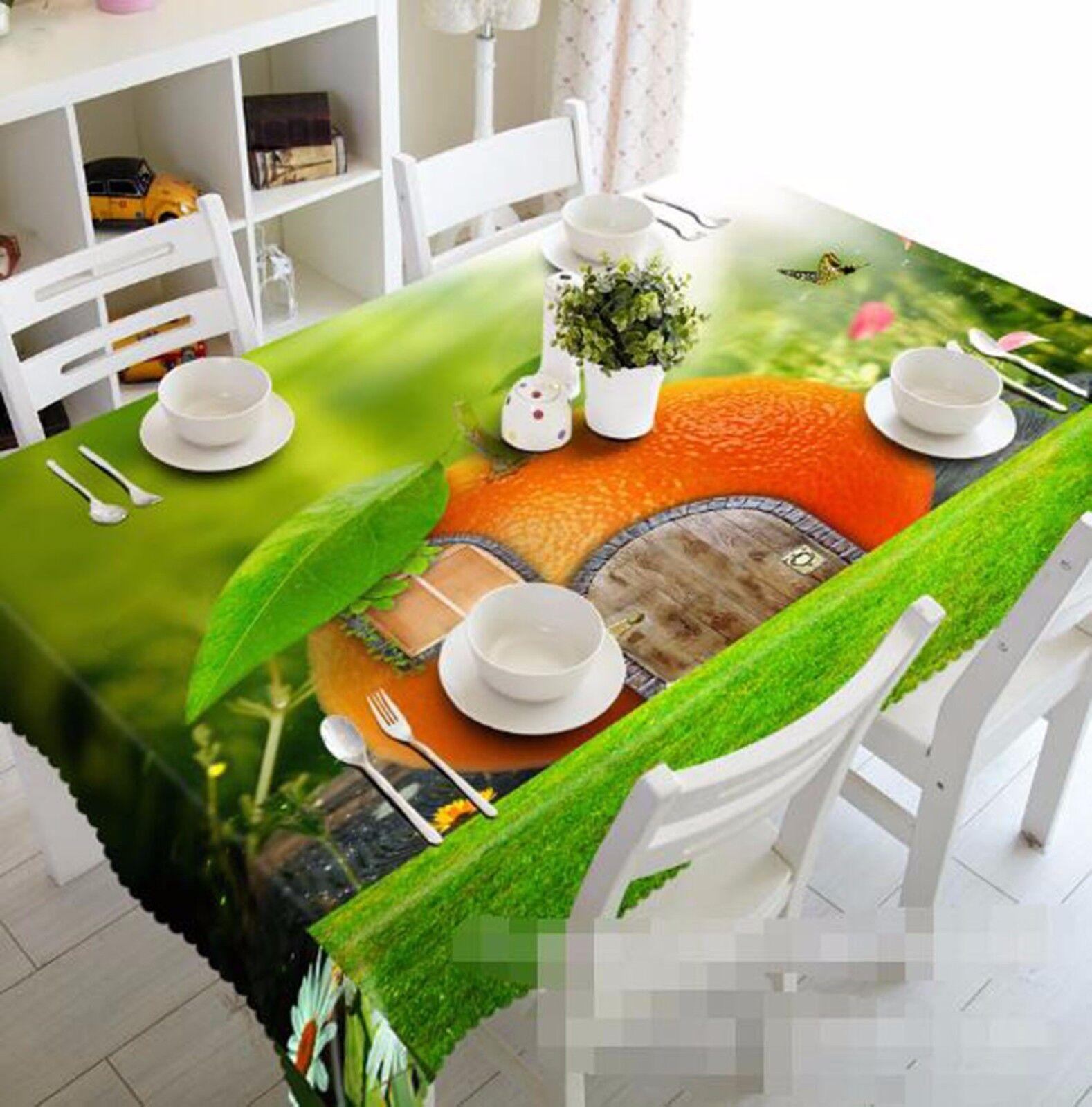 3D orange 63 Tablecloth Table Cover Cloth Birthday Party AJ WALLPAPER UK Lemon