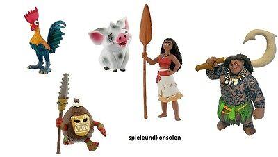Vaiana Disney`s Kinofilm Maui Pua Hei Hei Kakamoa Moana Spielfiguren Bullyland Angenehm Zu Schmecken Comicfiguren Spielzeug