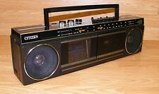 Vintage Citizen TA80-0A Analog LCD Television & Stereo Cassette Recorder *REPAIR