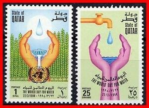 QATAR-1994-UNO-ONU-WATER-DAY-SC-844-45-MNH-FOOD