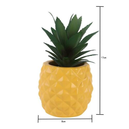 Yellow Resin Pineapple Plant Micro-landscape Pots Tabletop Decorations
