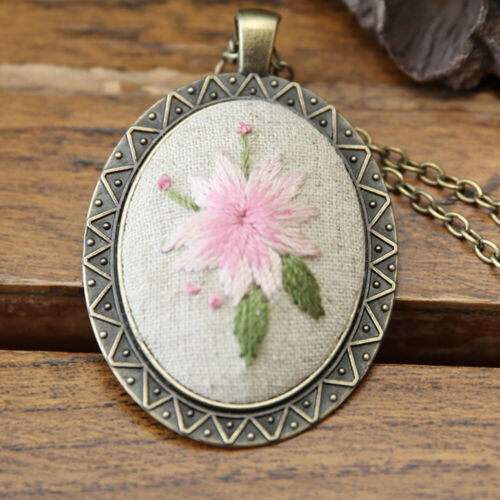Embroidery Craft Kit Cross Stitch Package Necklace Pendant DIY Needlework Craft