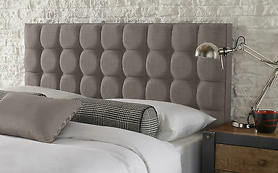 Bill Buttoned Headboard Linen All Sizes & 13 Colours & 2 Heights!