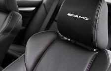 5 x MERCEDES AMG CAR SEAT HEADREST DECALS LOGO Vinyl Stickers Graphics clk slr