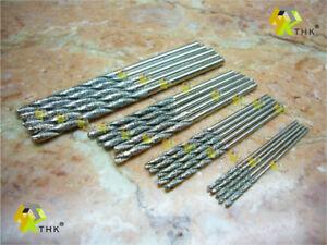 20-Stueck-1mm-2-5mm-Neu-THK-Diamant-Spiralbohrer-Bohrkrone-Stein-Marmor-Schmuck