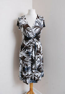 Ladies-Dress-Size-12-WALLIS-Brown-Floral-Summer-0616