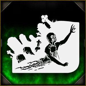 Zombie Crawler 2 - Airbrush Stencil Template Airsick ...