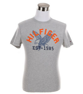 Tommy-Hilfiger-Men-039-s-Short-Sleeve-Crew-Neck-Logo-Tee-T-Shirt-0-Free-Ship