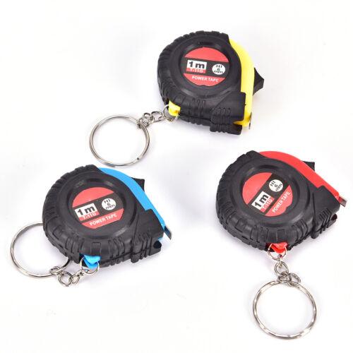 Retractable Ruler Tape Measure Key Chain Mini Pocket Size Metric 1m HV