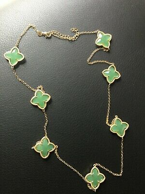 Rose Chalcedony 22mm Clover Briolette 925 Sterling Silver Gold Plated Bezel Pendant