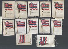 c1913 Lot of 20 HAWAII S33 Silks NATIONAL FLAGS Cigarettes Insert Tobacco Old US