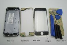 Housing repair for IPhone 5S grey back cover case buttons frame glass frame