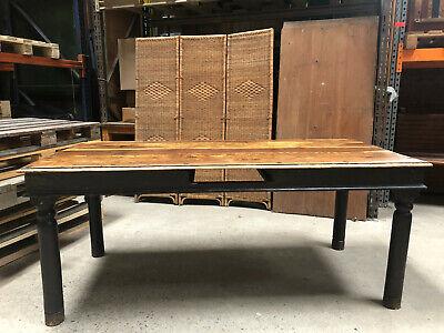 Massiv + Schwertisch Esstisch Echtholz Tafel Mittelalter Markt Industrie Design
