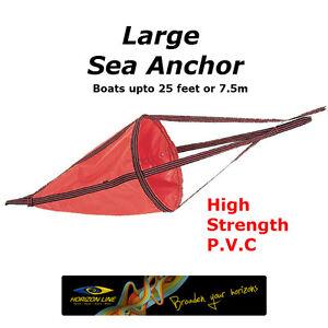 Large Sea Anchor Drogue Drift chute Drfiting Brake 125cm kayaks boat - 7.5m 25ft