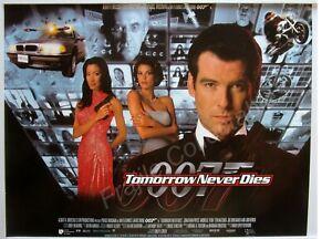 Tomorrow Never Dies 1997 Original Uk Mini Cinema Movie Main Poster 12 X16 Ebay