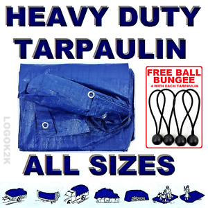 ALL-Sizes-Of-Heavy-Duty-Tarpaulin-Cover-Ground-Camping-Sheet-BUNGEE-BALLS