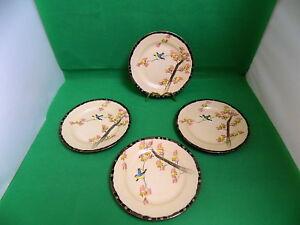 Japanese Eggshell Porcelain Signed Dai Nippon 19 Century Side Plates x 4