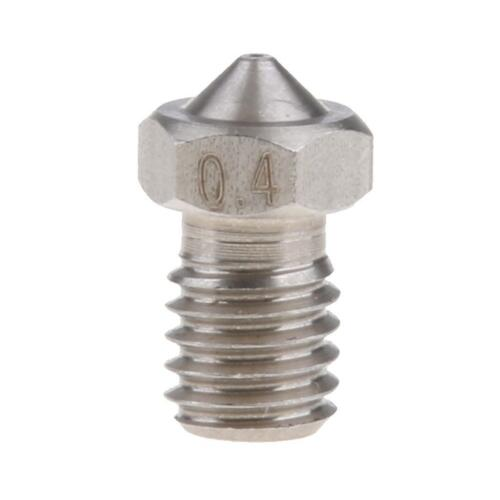 Stainless Steel V5 M6 Extruder Nozzle 0.4mm Nozzle Head 3D Printer Parts