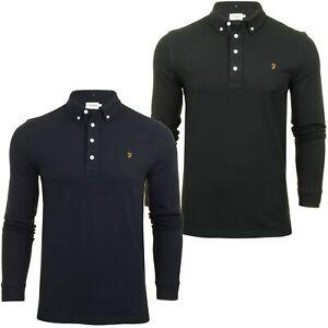Farah-Mens-Polo-T-Shirt-039-Ricky-Polo-039-Long-Sleeved