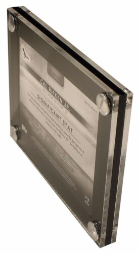 2 Card Side by Side Display Holder Case with Divider /& With Satin Aluminum Screw