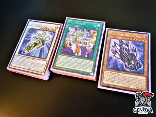 New Sleeves Winners Deck YuGiOh F.A Dragster Grand Prix Proxy Dragon