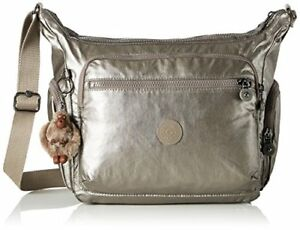 05acc8bf965b9 Image is loading Kipling-Gabbie-Womens-Cross-Body-Bag-Gold-Metallic-