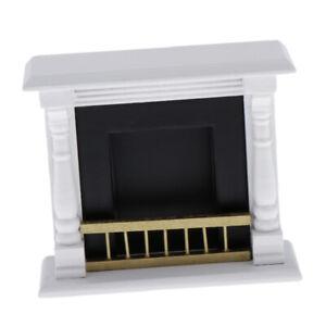 MagiDeal-1-12-Dollhouse-Miniature-Wood-Fireplace-Model-Furniture-Accs-White