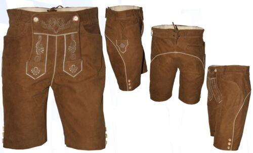 With ricamati Lederhose Platter Trachtenlederhose Sporty Short Pantaloni Latz w7Raaq