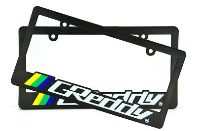 x2 SKUNK2 Racing License Plate Frame For CRX INTEGRA S2000 SI DC2 EG6 EK9 EJ8