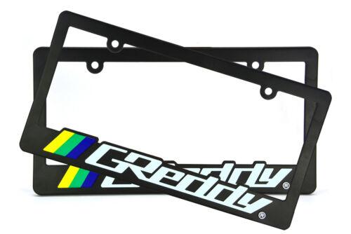 X2 JDM GREDDY Racing License Plate Frame Universal For MAZDA MX5 CX5 MIATA RX7