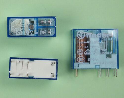 Finder print//Steck relés 9v dc 2x cambiador a/' 8 amperios 40.52.7.009.0000