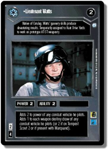 Star Wars CCG Endor DS Rare Lieutenant Watts