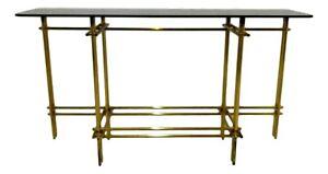 consolle di design in ottone originale anni 70  willy rizzo - romeo rega style