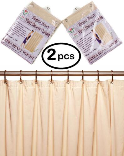 """2//pk 10 Mil Heavy Duty Vinyl Shower Curtain Liner w Metal Grommets size 70 x 72/"""""""