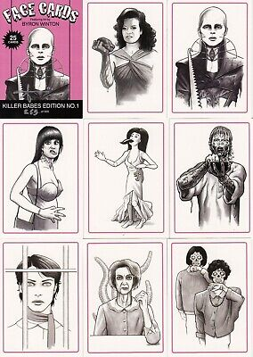 FACE CARDS ALL 6 trading card sets by BYRON WINTON