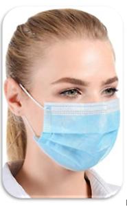 50er Pack Einweg Gesichts Maske 3 lagig Mund Nasen Maske Atemschutzmask