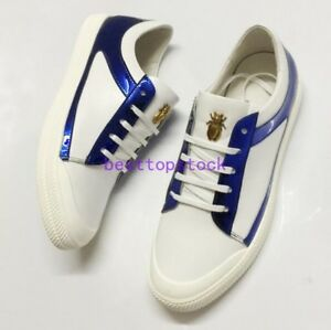 2020-Mens-Lace-Up-Low-Top-Fashion-Sneakers-Genuine-Leather-Casual-Board-Shoes-sz
